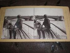 Stereoview photograph Blackfriars Bridge London by Permanent Stereoscopic 1880s
