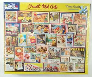 White Mountain GREAT OLD ADS #1505 USA Jigsaw Puzzle 1000 piece NEW Sealed