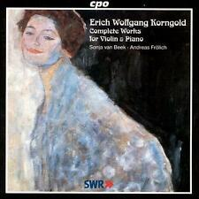 Erich Wolfgang Korngold: Complete Works for Violin & Piano, New Music