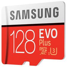 SAMSUNG EVO PLUS 128GB MicroSDXC/SDHC USH-I 4K Video Memory Card With SD Adapter