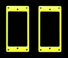 Guitar Parts Humbucker Pickup MOUNTING RINGS Trim Bezels - Set of 2 - YELLOW