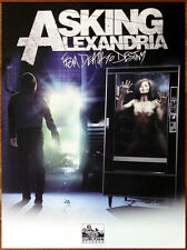 ASKING ALEXANDRIA From Death To Destiny Ltd Ed Discontinued HUGE RARE Poster!