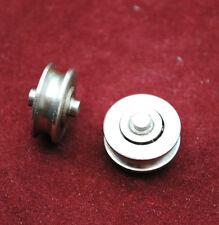 Pair 14 mm. Sliding Window / Door Glass Rollers Bearings Wheels Stainless Steel