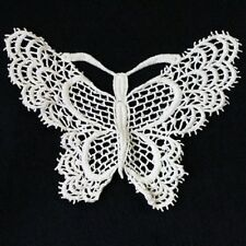 1 CREAM LACE SEW ON EMBELLISHMENT EMBROIDERY BUTTERFLY APPLIQUE 160x145mm HL831