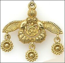 Minoan Bee Pendant 24 K Goldplated Bee Necklace Bee Pendant Goldplated Chain