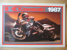 MOTO KAWASAKI  GAMME 1987  CATALOGUE DEPLIANT PROSPECTUS BROCHURE