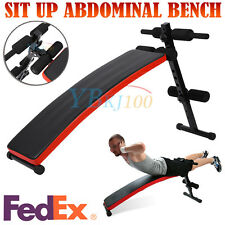US SHIP Adjustable Sit Up Bench Flat Crunch Board AB Abdominal Fitness Strength