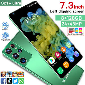 7.3 Inch  Unlocked S21 Ultra Android 10 Smartphone Dual Sim 3G Phone Mobile