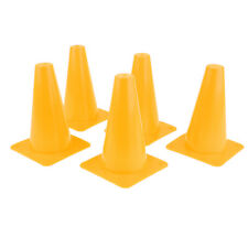5pcs Plastic Cones Agility Training Cone for Sports Soccer Football Yellow