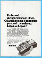 (AM)DOMCOR978-PUBBLICITA'/ADVERTISING-1978- OLIVETTI LOGOS 3 E LOGOS 7