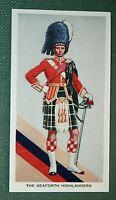 SEAFORTH HIGHLANDERS  Officer  Original Vintage Card