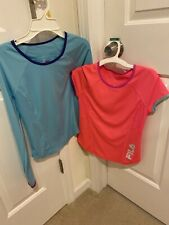 Girls Medium Fila Short & long Sleeve Athletic Shirt Top Lot