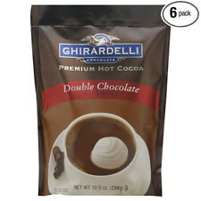Ghirardelli - Double Chocolate Premium Hot Cocoa 10.5 Oz Pack of 6 - Closeout!