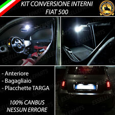 KIT FULL LED INTERNI COMPLETO FIAT 500 + LUCI TARGA LED PLACCHETTE 18 LED CANBUS