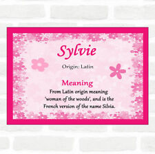 Sylvie Name Meaning Pink Certificate