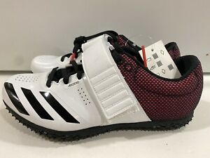 adidas Adizero High Jump Track & Field Event Spikes B37490 White Boys Sz 6 US