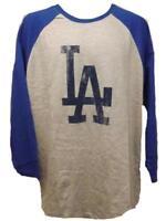 New Los Angeles Dodgers Mens Sizes L-XL-2XL Big & Tall Majestic Raglan Shirt