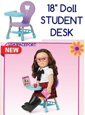 "My Life As STUDENT DESK SCHOOL CHAIR fits 18"" American Girl Boy Doll Purple+Blue"
