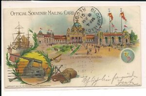 Sep 4 1901 , With Colorful,  U.S. Government Building Post Card with Scott 294