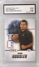 ROB HOUSLER RC 2011 Sage Hit Chicago Bears Grade gem 10 football CARD