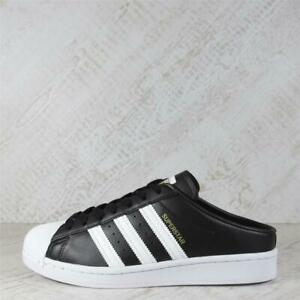 Womens Adidas Superstar Mule Black/White Trainers (90C20) RRP £69.99