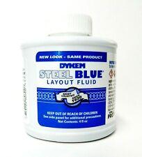 Dykem Blue 80300 Blue Layout Fluid Jewelry Plating Stop Off 4oz Brush Top Bottle