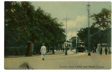 Hong Kong China-TROLLEY ON QUEENS ROAD CENTRAL NEAR PARADE GROUND- Postcard