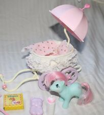 G1 1980's MY LITTLE PONY Baby Buggy Baby Cuddles & Accessories