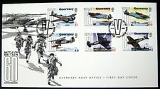 WORLD WAR II STAMPS FIRST DAY COVER FDC 2000 GUERNSEY 60TH ANV BATTLE OF BRITAIN