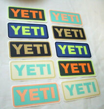 Great Quality Yeti Sticker Lot 10 Stickers Authentic