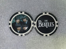 THE BEATLES  POKER CHIP - BALL MARKER - JOHN, PAUL, GEORGE & RINGO - SIGNED