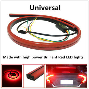 1*Red Rear Windshield High Mount 3rd 4th Brake Tail Sequential Strip Lights Wire