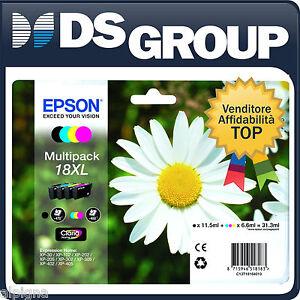 EPSON MULTIPACK 18XL ORIGINALE MARGHERITA CARTUCCE INK-JET CMYK 212 215 315
