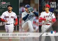 Topps Now,Card of the Month,Nov.2018(Betts,Snell,Ohtani,Yelich,deGrom,Acuna)[SP]