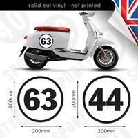 Pinstripe STRIPES 70mm Vinyl Decal Sticker Motorbike Lambretta Vespa FREE POST