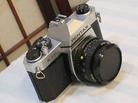 PENTAX K1000 35mm FILM SLR LEGENDARY CAMERA with SMC PENTAX-A 1:2 50mm LENS