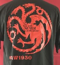 LAWLESS LEGENDS 3 Head Dragon Gentle Strength Black Poly mens Large Shirt YKM
