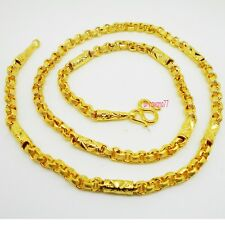 Mix Chain Link 22K 24K Thai Baht Yellow Gold Plated GP Necklace 24 inch Jewelry