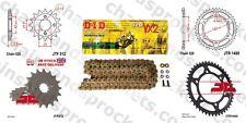 KAWASAKI ZXR400 H2,L1-L9 88-02 Gold Extra Heavy Duty X-Ring GTR Chain