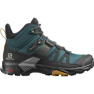 Salomon- X Ultra 4 Mid GTX Hiking Shoe - Men's Size 9.5- Green Gables Black-New!