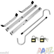 UNIVERSAL LADDER ROOF RACK CLAMP CLAMPS LOCKABLE FREE LOCKS LADDERS SECURE