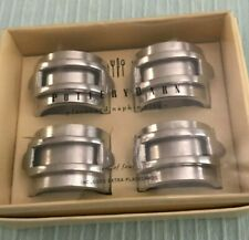 POTTERY BARN Set of Four METAL Placecard NAPKIN RINGS Aluminum? FREE SHIPPING!