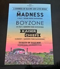 Madness / Kaiser Chiefs / Boyzone live at Races doubleside promo postcard 2015