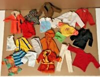 Vintage Retro 1960's Ken Doll Clothing 20pc Lot Some Rare Mod Era Barbie Mattel