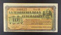 1914 Revolutionary Mexico - Tesoreria de la Federacion 10 Ct. Banknote, P-S105.