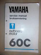 YAMAHA OUTBOARD ENGINE MOTOR 60C FACTORY WORKSHOP SERVICE MANUAL 1982
