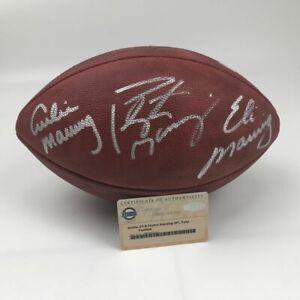 Autographed/Signed PEYTON ELI ARCHIE MANNING Authentic Duke Football Steiner COA