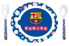 VAJILLA INFANTIL MICROONDAS OFICIAL BARCELONA: PLATO + CUBIERTOS -ENVIO GRATIS-