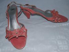 Per una donna scarpe rosa Taglia 7.5 Floreale Dettaglio Sandali