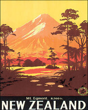 MOUNT EGMONT NEW ZEALAND VOLCANO 8 X 10 VINTAGE POSTER REPRO FREE SHIPPING